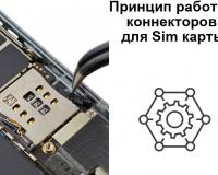 Принцип работы коннекторов для Sim карты